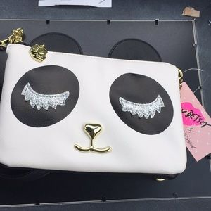 NWT Betsey Johnson Panda face purse